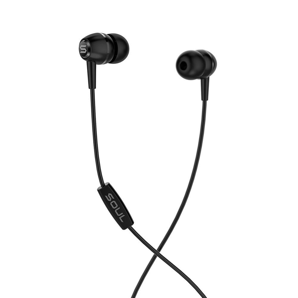 LIT Black high performance wired earphones Soul Electronics Ακουστικά ψείρες - Μαύρο