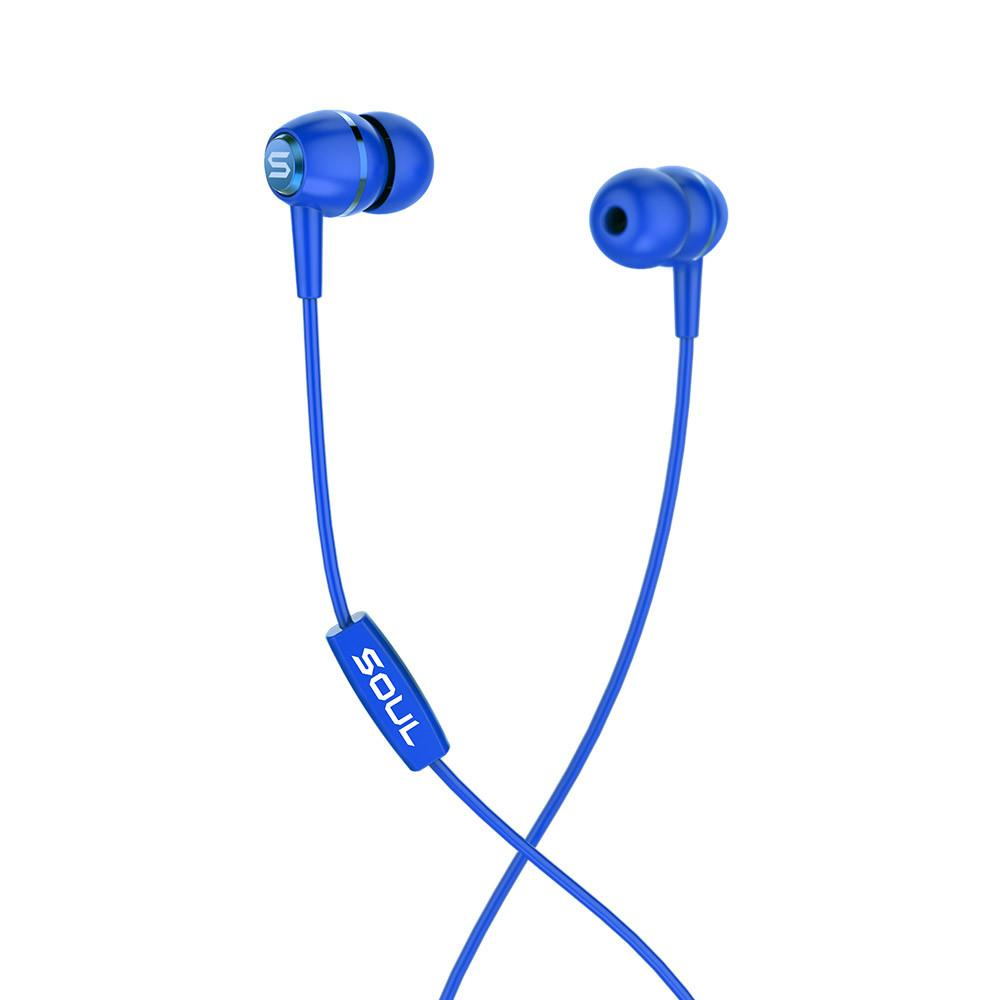 LIT Blue high performance wired earphones Soul Electronics Ακουστικά ψείρες - Μπλέ