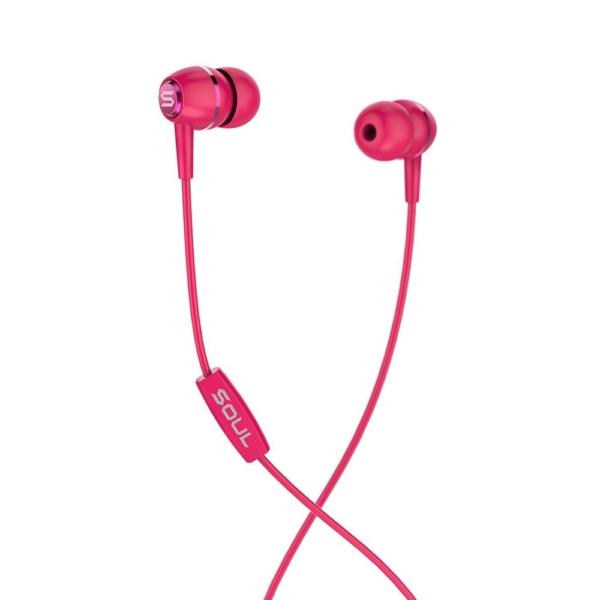 LIT RED high performance wired earphones Soul Electronics Ακουστικά ψείρες - Κόκκινο