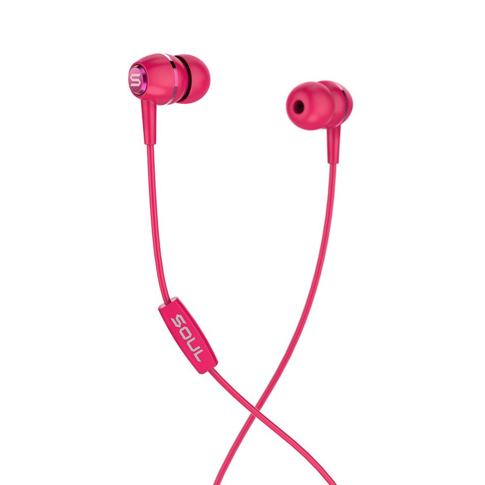 LIT RED high performance wired earphones Soul Electronics Ακουστικά ψείρες - Κόκκινο