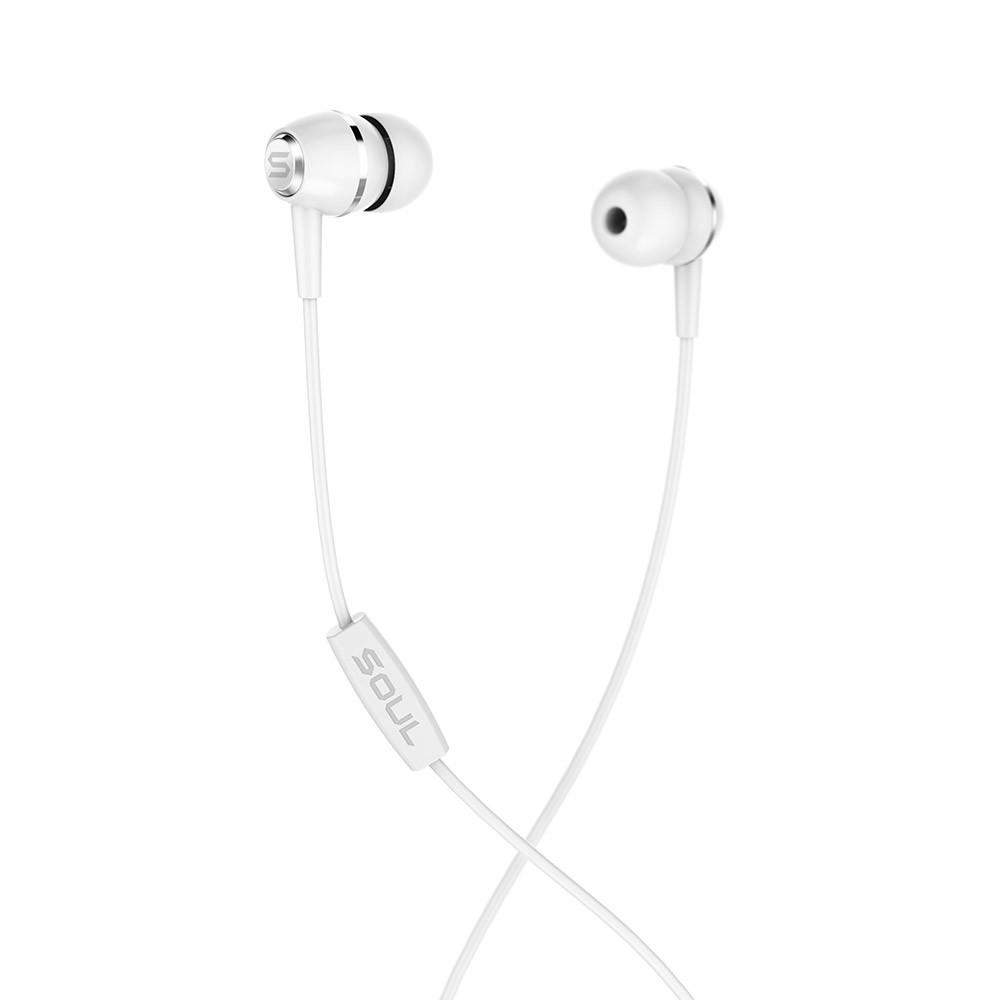 LIT White high performance wired earphones Soul Electronics Ακουστικά ψείρες - Άσπρο